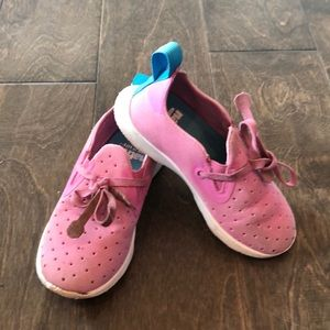 Girls native brand shoes. Pink